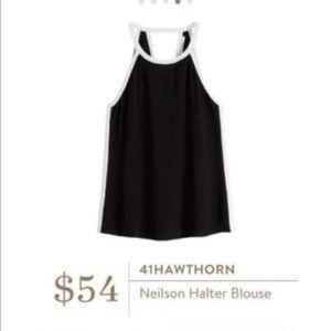 STITCH FIX 41 Hawthorn Neilson Halter Blouse Black